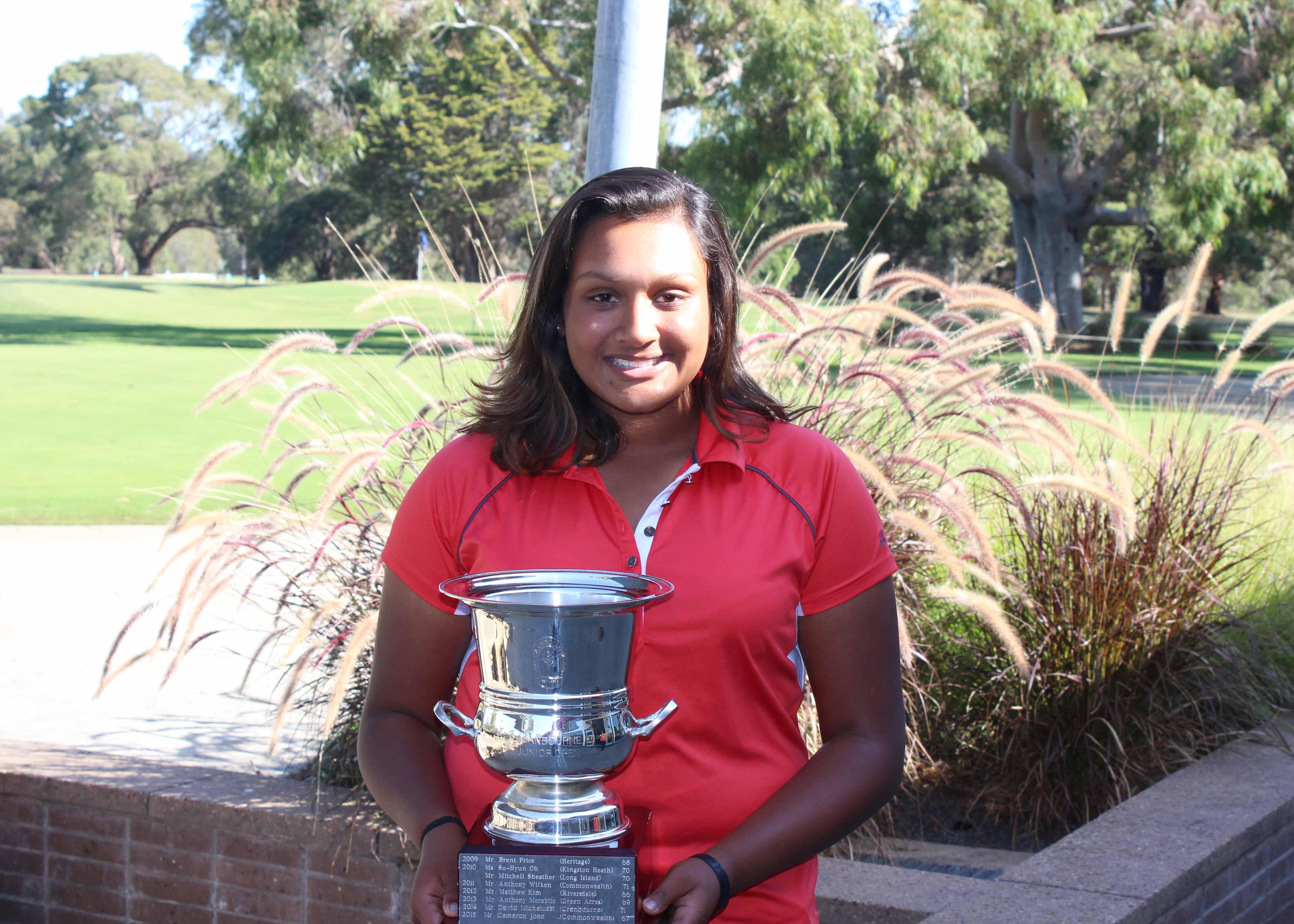 Junior Open Winner 2016 Shanaiah Fernandez