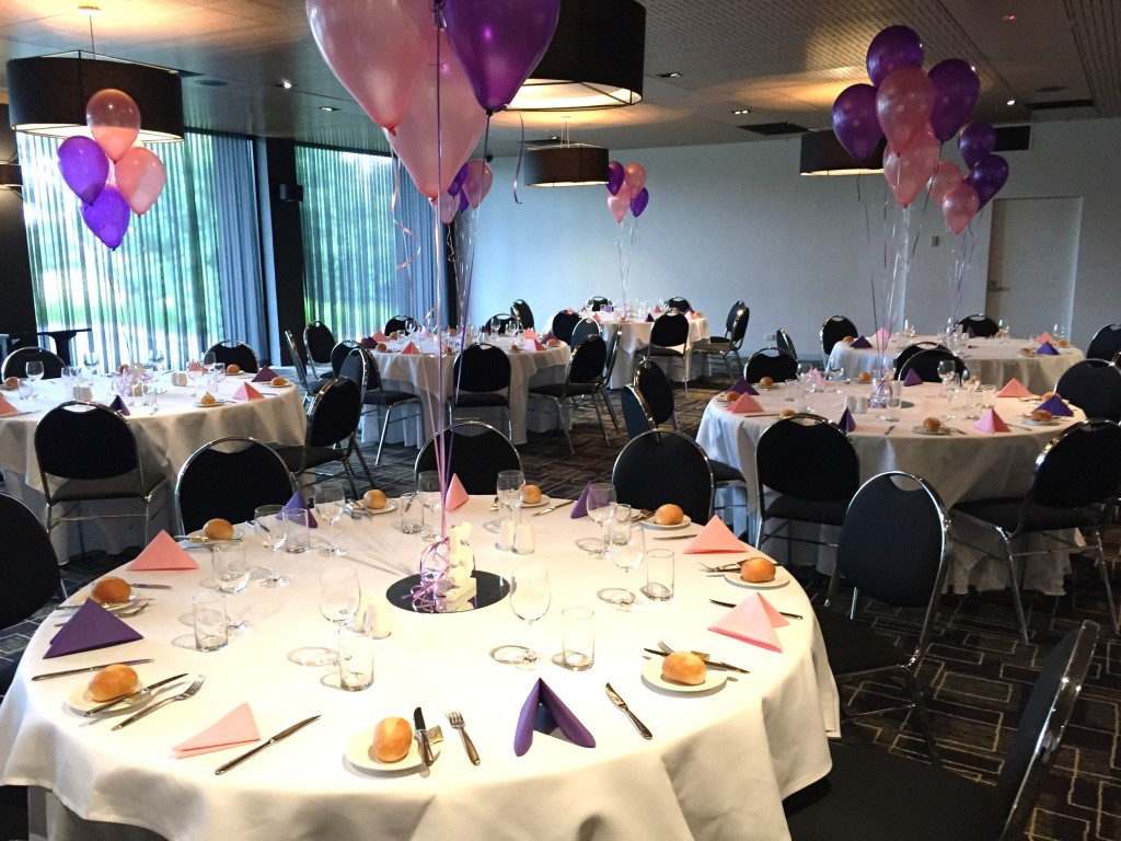 function - table with balloon centrepiece